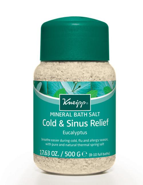Cold & Sinus Relief Mineral Bath Salt: Eucalyptus