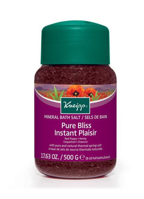 Pure Bliss Mineral Bath Salt: Red Poppy & Hemp