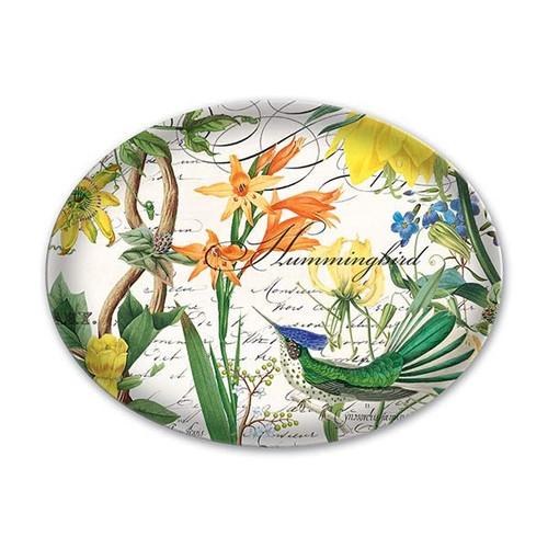 Hummingbird Glass Soap Dish