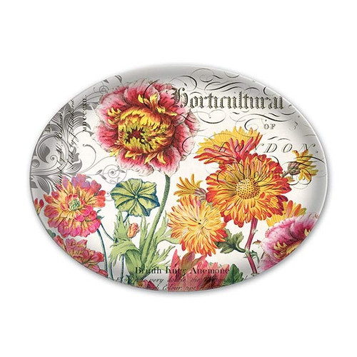 Blooms and Bees Glass Soap Dish