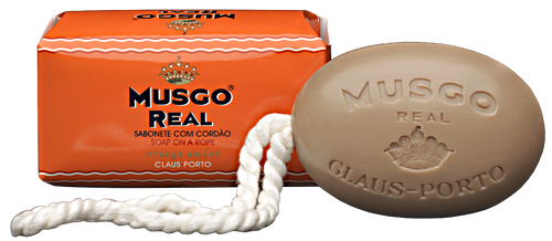 Musgo Real Soap on a Rope - Orange Amber Scent