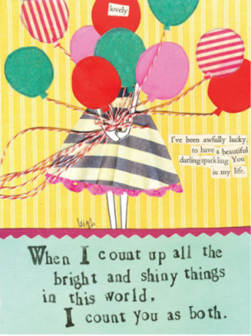Bright & Shiny Things Card