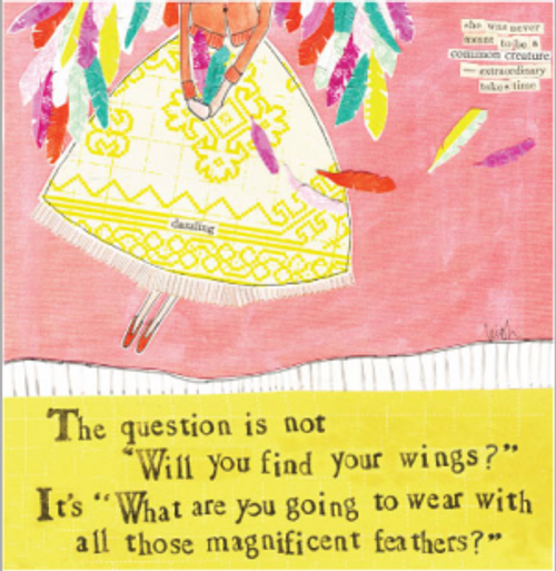 Feathers Card