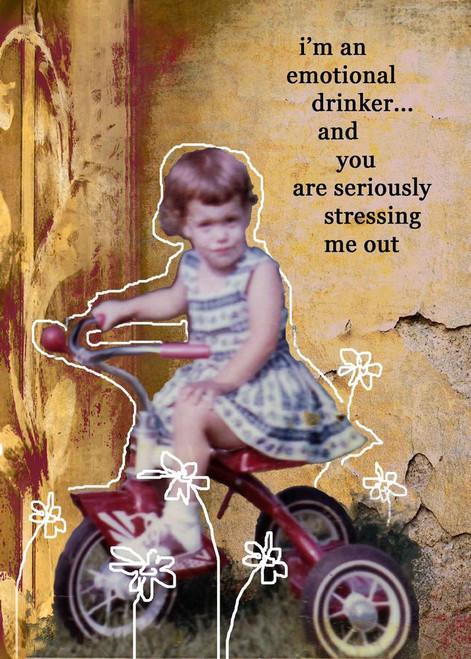 Emotional Drinker Card