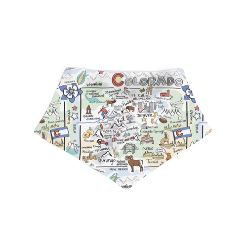 Colorado Map Baby Bib