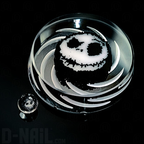 Jack Skellington Murrine by Firefox Glass Channel Cap and Sphere