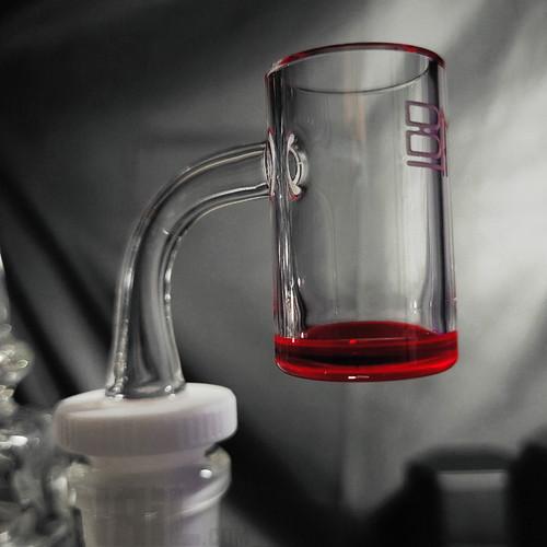 24mm Black Market Glass Red Bottom Banger