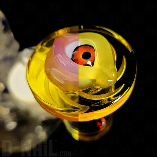 Color Shift Yellow to Pink Harold Eye with Yellow Quartz Banger Curated Set