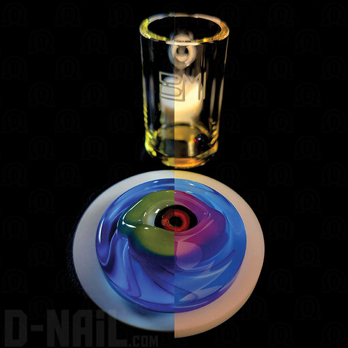 Color Shift Yellow to Pink on Blue Harold Eye with Yellow Quartz Banger Curated Set