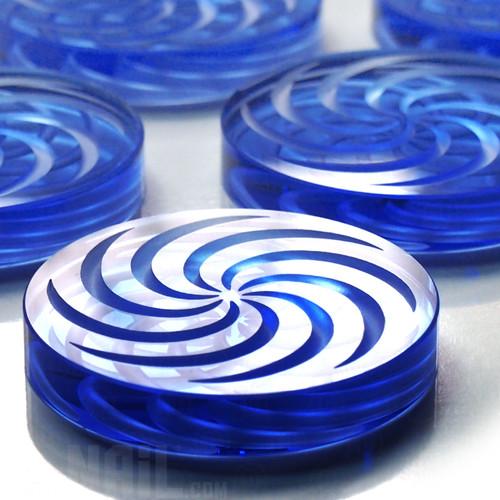 Borosilicate Channel Cap: Blue