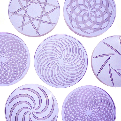 Borosilicate Channel Cap: Pale Purple