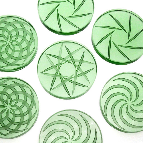 Borosilicate Channel Cap: Green