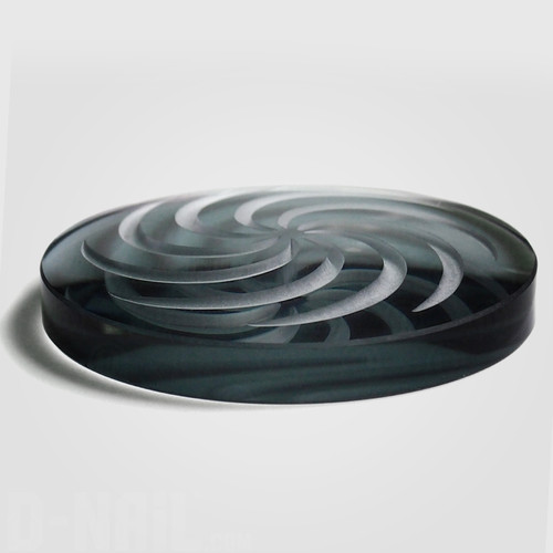 Borosilicate Channel Cap: Smoke Grey