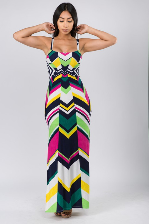 This Is My Vacay Maxi Dress Front