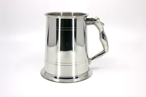 'Nymph' pewter pint tankard