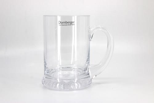 Heeled 1 pint glass tankard.