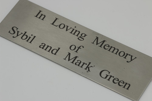 Laser Engraved Stainless Steel Plaque