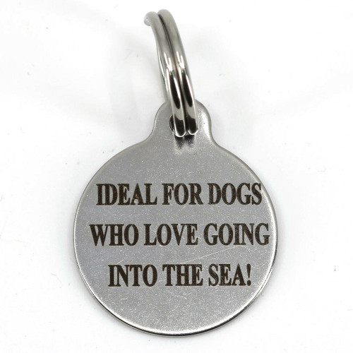25mm circle stainless steel pet tag with stainless steel split ring