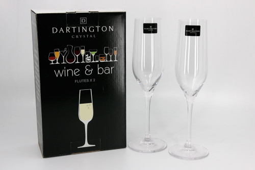 Dartington Crystal pair of champagne flutes