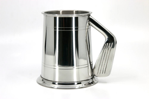 Pewter tankard with golf club handle