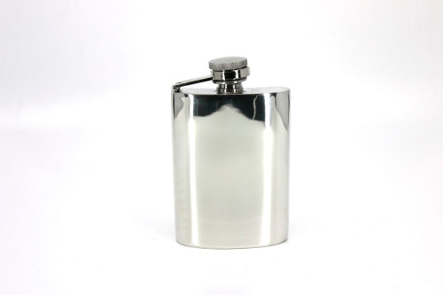 4oz Pewter hip flask with captive top