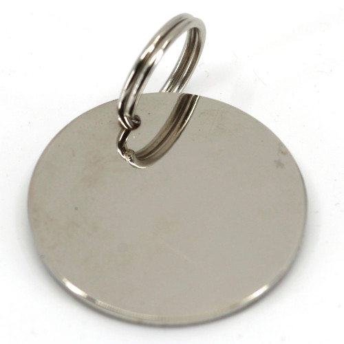 25mm standard nickel plated pet tag.