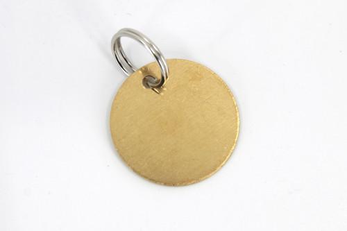 28mm standard round brass pet tag.