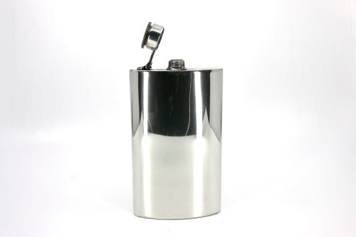 8oz Pewter hip flask with captive top