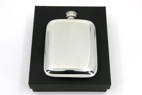 4 oz Pewter Pocket Flask with Gift Box
