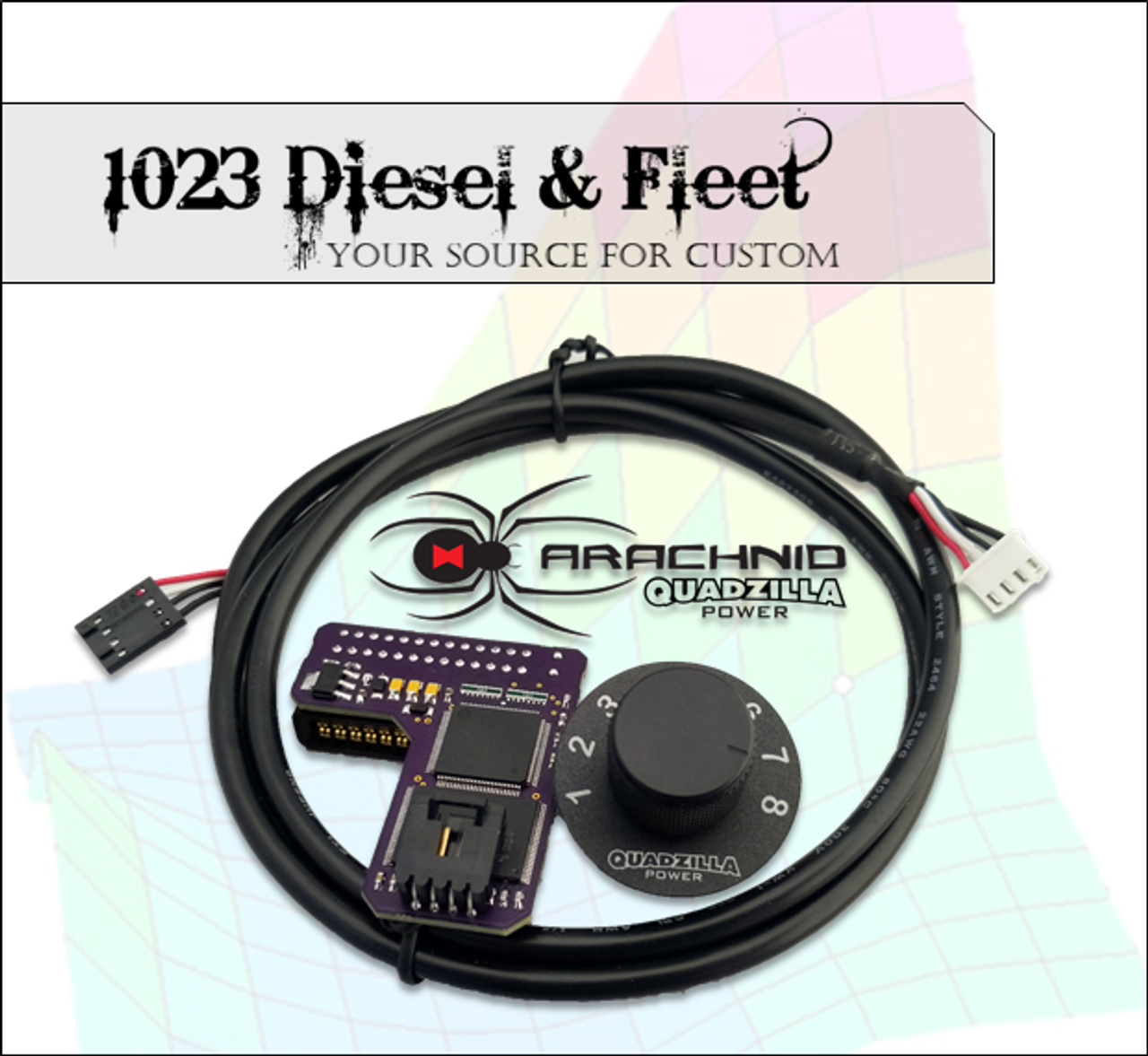 Arachnid 8 Position Chip W 1023 Diesel Custom Tunes