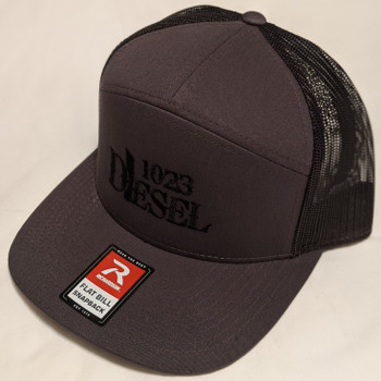 7-Panel Trucker Cap Black-168-cap