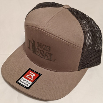 7-Panel Trucker Cap Tan-168-cap