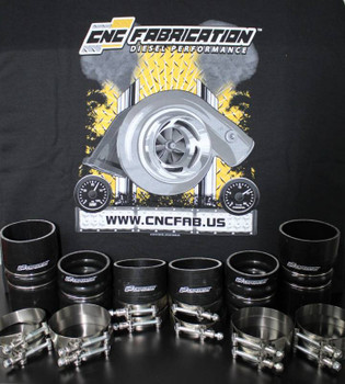 CNC Fabrication Boot & Clamp Kit 1999.5-2003 7.3 Powerstroke  Black, Red & Blue