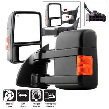 99-16 Ford Super Duty L/R Manual Extendable - Manual Adjust Mirrors