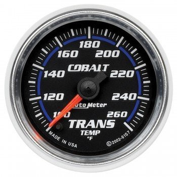Cobalt Trans Temp Gauge (100º-260ºF) Full Sweep 6157