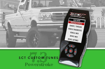 7.3 SCT Custom tuning for your powerstroke from 1023 diesel.  The best SCT Custom tuning for your 7.3 Powerstroke.  We can tune for stock injectors, Single shot injectors and hybrid injectors.
