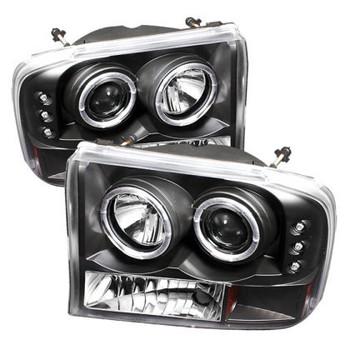 Spyder Black Halo LED Lights - 99-04