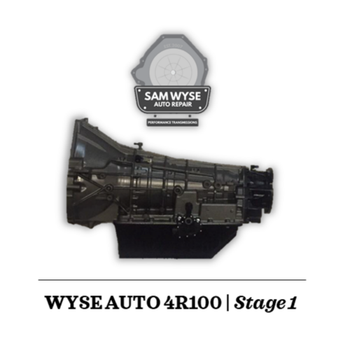 SAM WYSE 4R100/E4OD | STAGE 1 - 450HP Sam Wyse Has been building ford transmissions for over 10 years and continues to build some of the best E4OD, 4R100, 5R110 and 6R140 Transmissions available. You can rest assured when buying a Sam Wyse transmission that you are going to be receiving the best.
