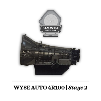 SAM WYSE 4R100/E4OD | STAGE 2 - 600HP Sam Wyse Has been building ford transmissions for over 10 years and continues to build some of the best E4OD, 4R100, 5R110 and 6R140 Transmissions available.You can rest assured when buying a Sam Wyse transmission that you are going to be receiving the best.