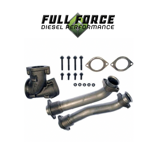 Full Force Diesel Bellowed Up-Pipes | 99.5-03 7.3L Powerstroke