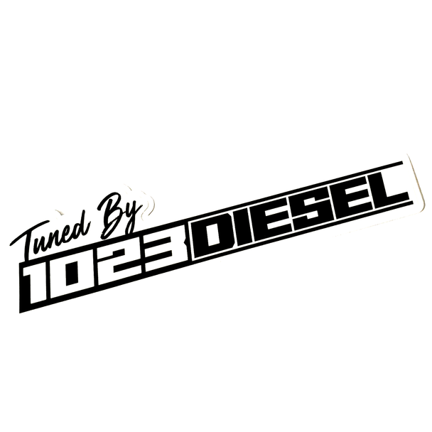 Tuned by 1023 Diesel Decal