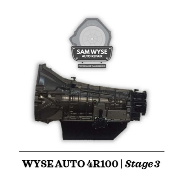 SAM WYSE 4R100/E4OD   STAGE 3 - 850HP Sam Wyse Has been building ford transmissions for over 10 years and continues to build some of the best E4OD, 4R100, 5R110 and 6R140 Transmissions available.You can rest assured when buying a Sam Wyse transmission that you are going to be receiving the best.