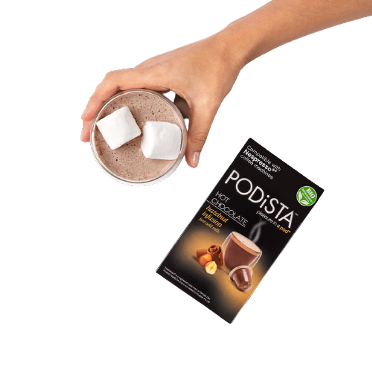 Podista Nespresso Compatible Chocolate hazelnut infusion  10-Count