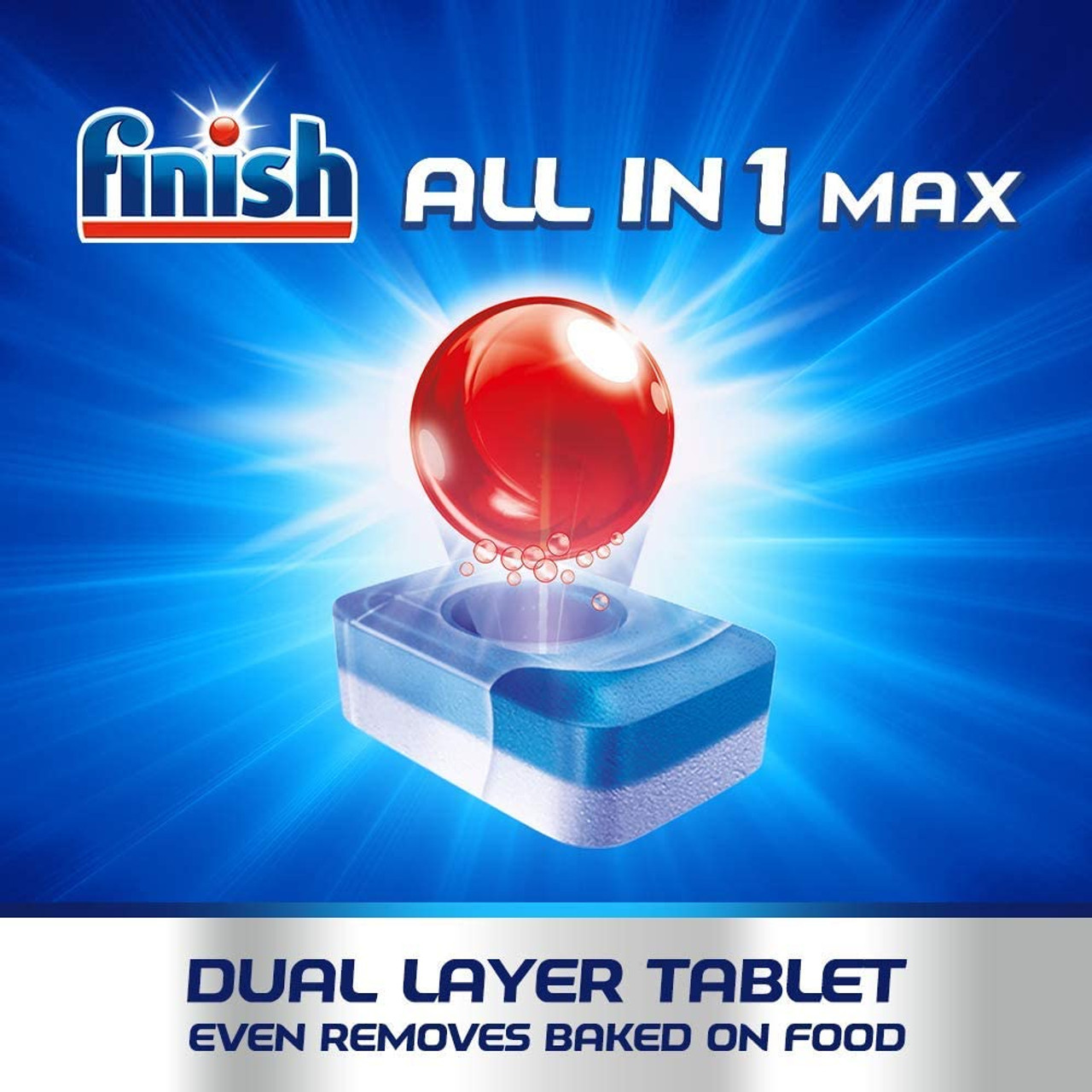 FINISH All In 1 Max Dishwasher Cleaning Tablet - 16.9g x 24tabs