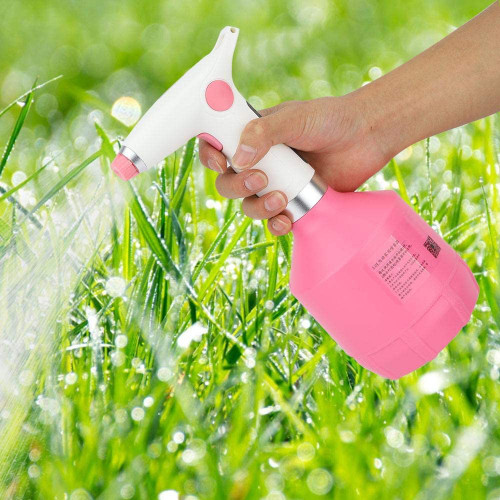 Electric Garden Sprayer, Watering Sprayer, USB Rechargeable Electric Spray Bottle Watering Tool for Flower Plant(Pink)