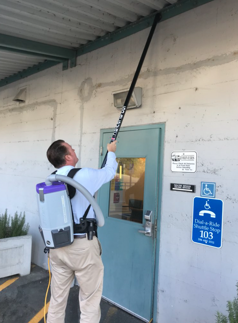 SpaceVac Standard Kit w/ Wireless Camera/Monitor: High Dusting Pole with Safety Locking System