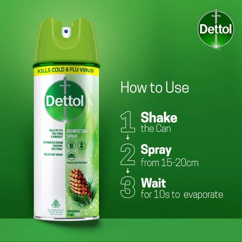 Dettol Disinfectant Spray 225ml-  Original Pine