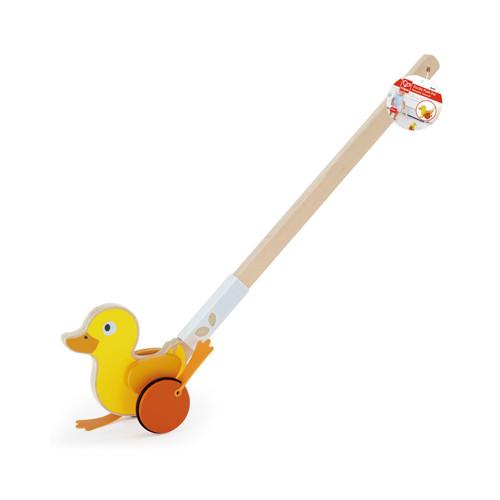 Pato de Empujar de Madera Hape