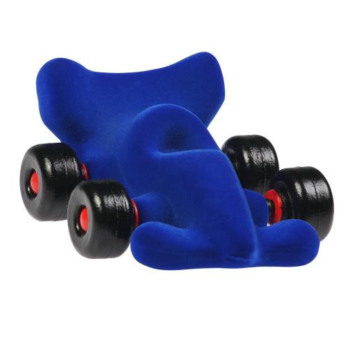 Carro de carreras de terciopelo azul