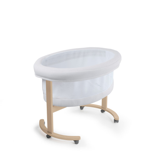 Moises de madera color blanco
